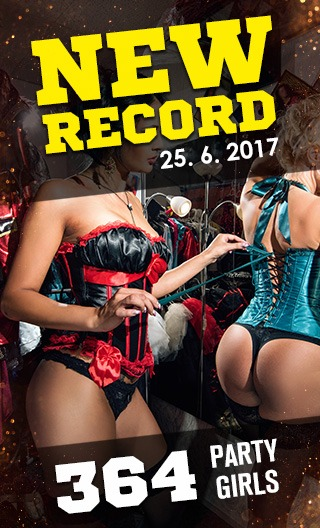The new record of amount of sexy girls at strip club in Darling Cabaret in Prague