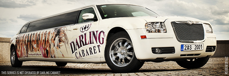 Darling cabaret in Prague white limousine