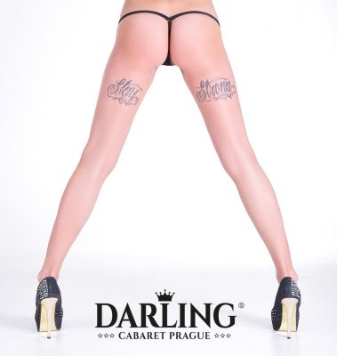 Hot ass with long sexy legs of stripper from Darling Cabaret in Prague