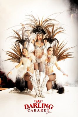 Our sexy girls are in Les plumes show. They have beautiful costumes in that hot show in Prague. Let yourself plunged into the cabaret atmosphere.