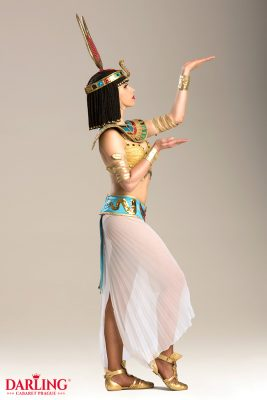 Beautiful dancer in egypt dress for show at Darling Cabaret in Prague