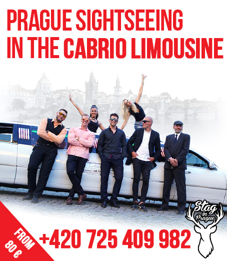 Prague sightseeing or transport in the luxury cabrio limousine throughout Prague